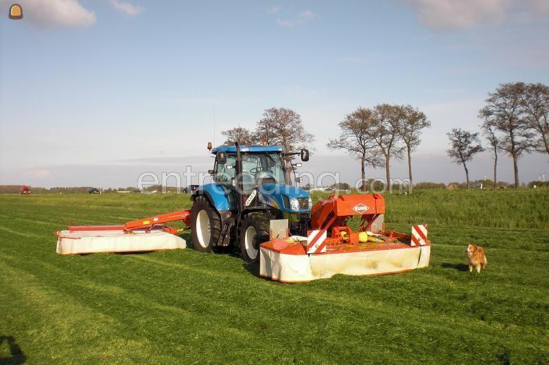 Tractor + schijvenmaaier newholland t6080 en kuhn fc 313 liftcontrol