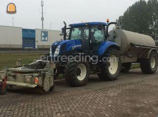 Tractor met waterwagen 6m... Omgeving De Drechtsteden