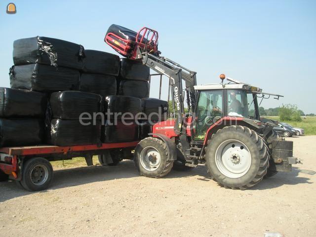 Tractor MF met voorlader