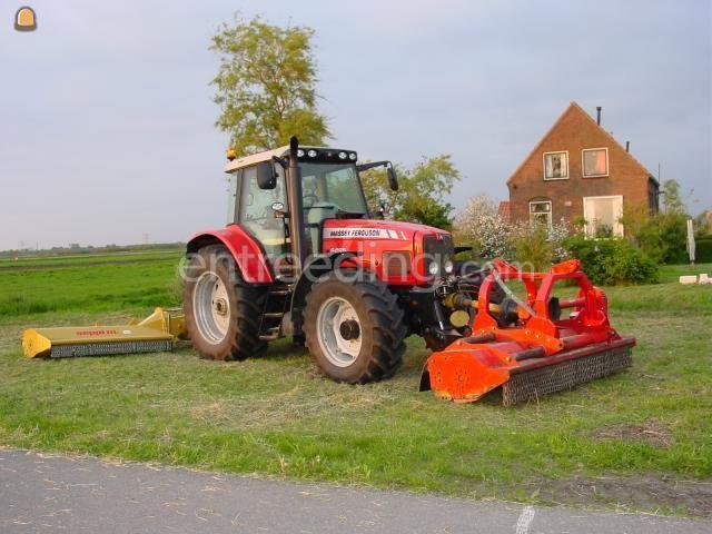 Tractor + klepelmaaier MF + klepelmaaiers