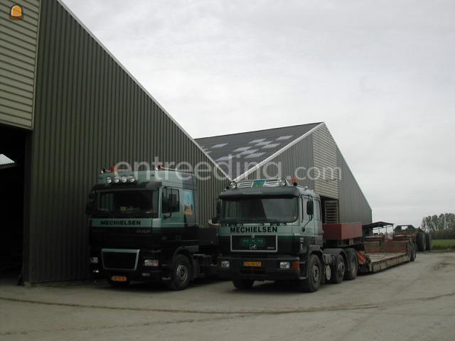 Dieplader / oprijwagen Daf 95 XF + Broshuis