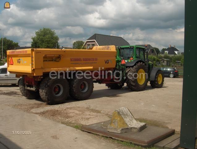 Tractor + kipper trekker met grondkar 15 m3