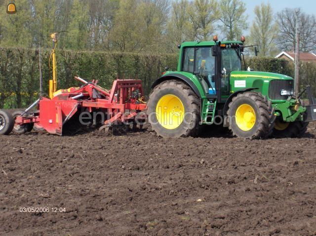 Tractor + kilver John Deere + Bos