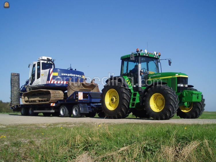Tractor met dieplader