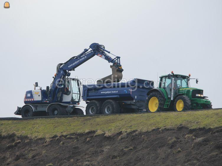 Tractor met gronddumper 14m3