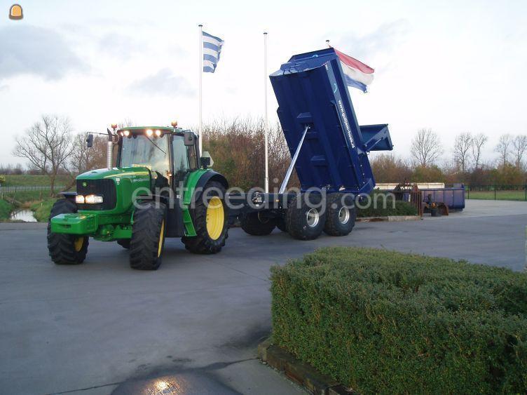 Tractor met gronddumper 15m3