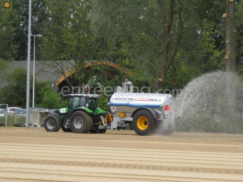 Tractor + waterwagen trekker+waterwagen (8M3)