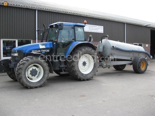 Tractor + waterwagen trekker + waterwagen 5m3
