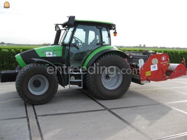 Tractor + Verti-Drainmachine Deutz + vertidrain + bezem