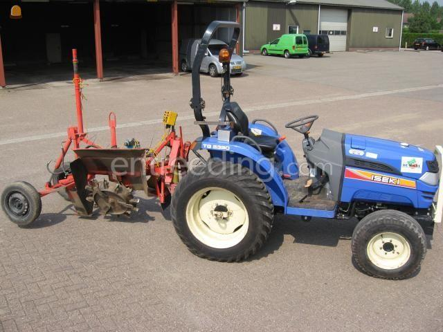 Tractor + greppelfrees trekker+greppelfrees+laser