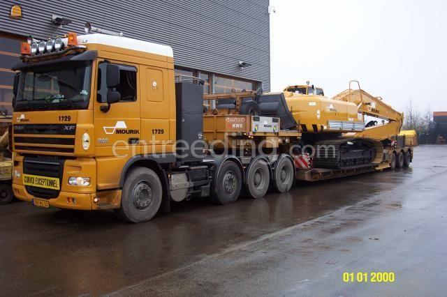 Dieplader / oprijwagen 1x Daf XF105 / dieplader 40 ton