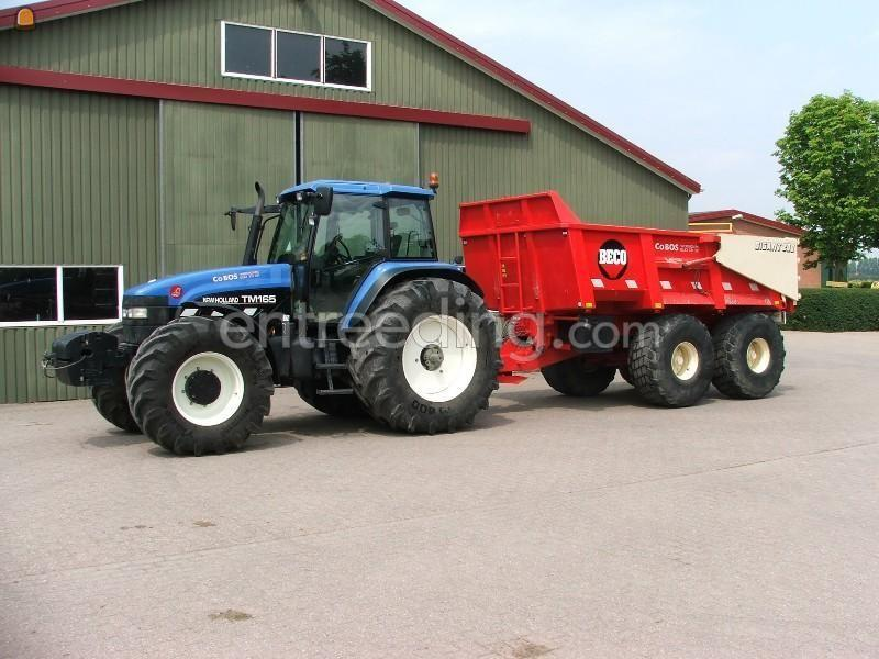 Tractor + kipper New Holland TM 165+ Beco 200