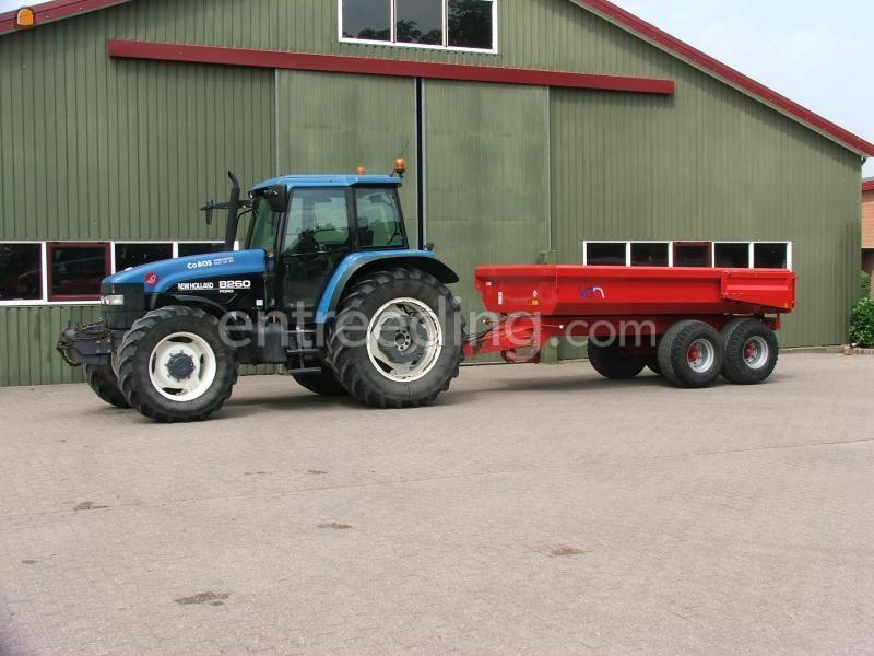 Tractor + kipper New Holland 8260 + vgm