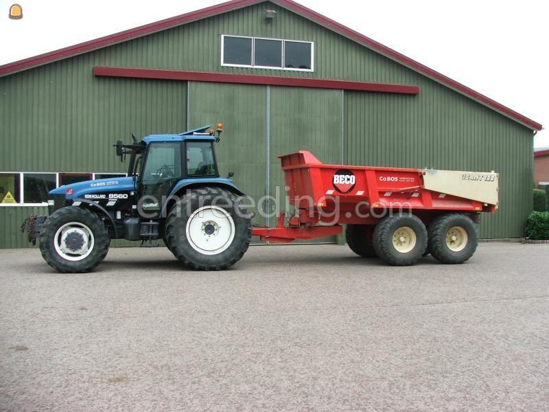 Tractor + kipper New Holland 8560 + Beco 160
