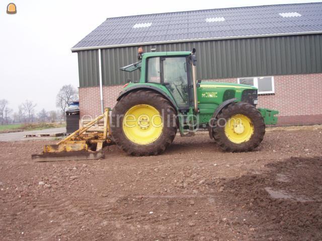 Tractor + egalisatieraam John Deere 6920