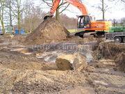 Bouwput ontgraven