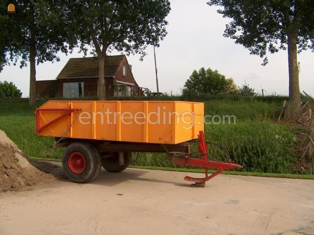 Tractor + kipper kipwagen 5 ton