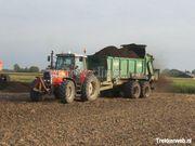 Tractor + breedstrooier MF6490 + Tebbe breedstrooier