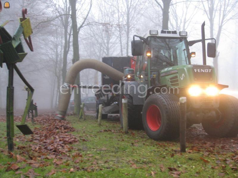 Tractor + bladzuiger Fendt 208 + Trilo bladzuiger