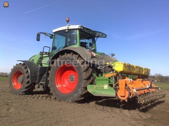 Tractor + rotorkopeg + zaaimachine Fendt + zaaicombinatie