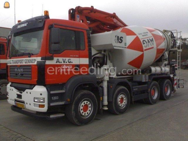 Betonpompen MAN/Scania Mixerpomp 26 mtr mast