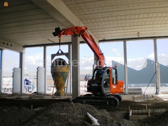 Minigraver, midigraver, micrograver, maxigraver, minikraan, minigraafmachine rups 7 tonner