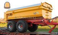 Tractor + kipper Massey Ferguson + VGM kieper