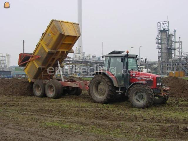 Tractor + kipper MF 6180 + mullie