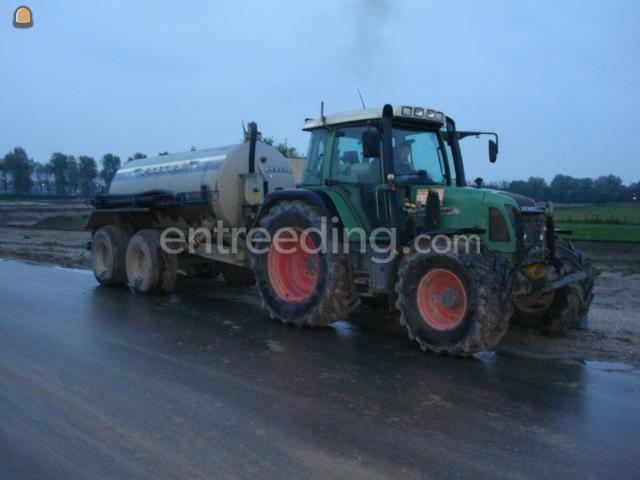 Tractor + waterwagen Fendt + Peecom