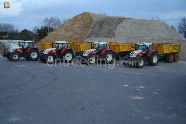 Tractor + kipper Steyr CVT + Alasco 4x