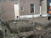 uitgraven tbv aanbouw