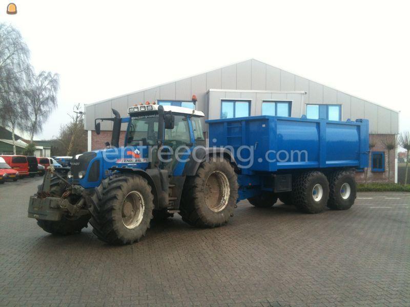 Tractor + kipper Fendt 818 + baggerkipper