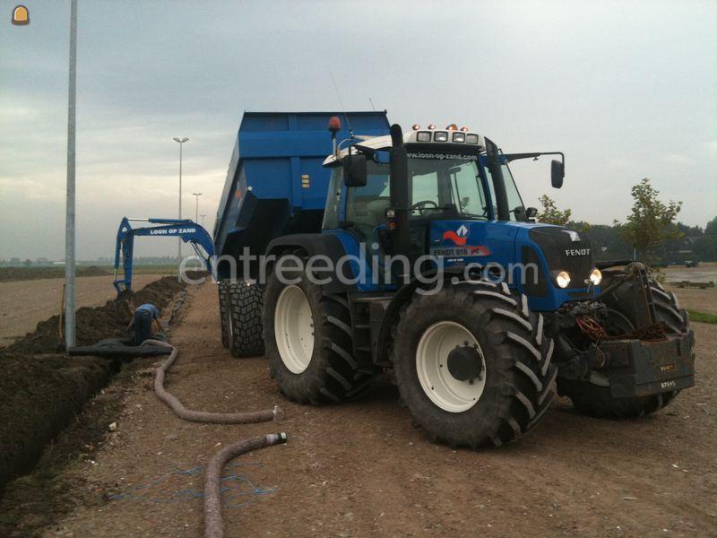 Tractor + kipper Fendt 818+Beco 220