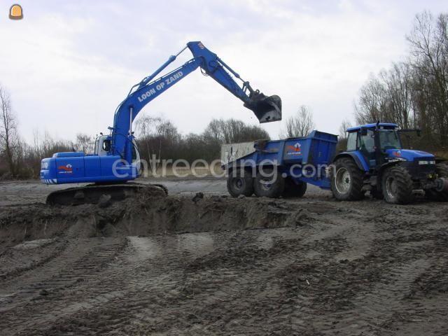 Tractor + kipper New Holland TM155+Beco 180