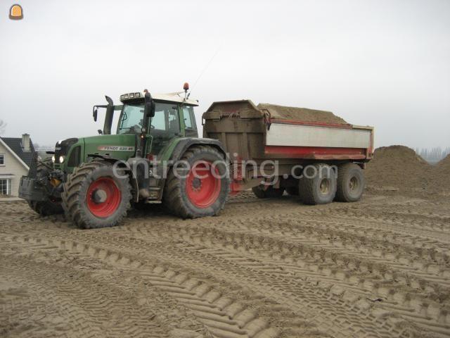 Tractor + kipper fendt 820 + Beco 15m3
