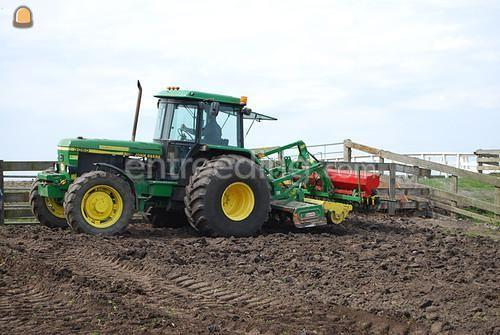 Tractor + rotorkopeg John Deere + rotoreg