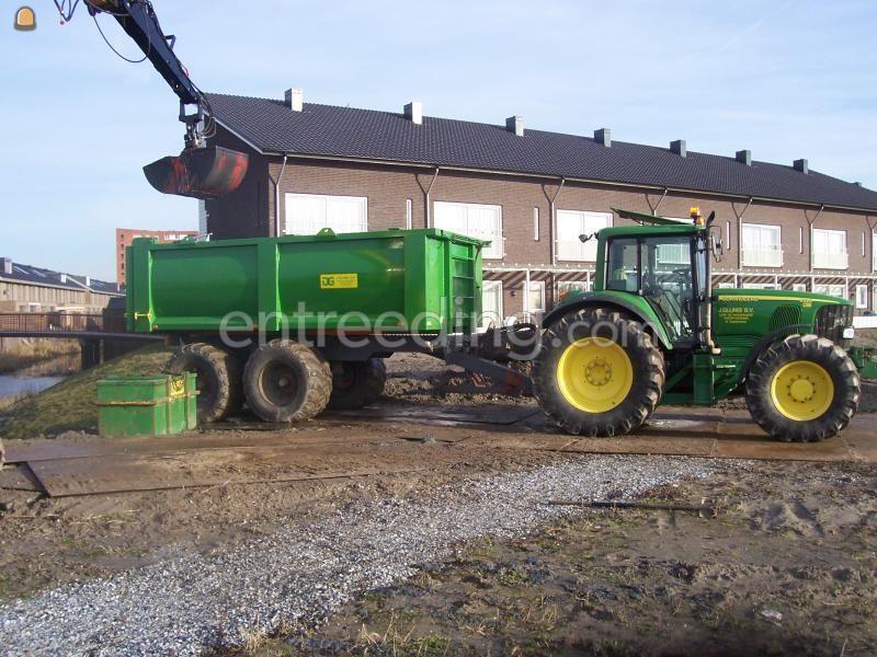 Tractor + kipper John Deere + baggerkipper