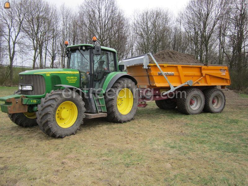 Tractor + kipper Veenhuis JVZK 18000