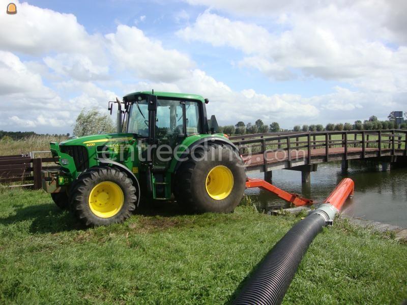 Tractor + pompen John Deere + kleine pomp