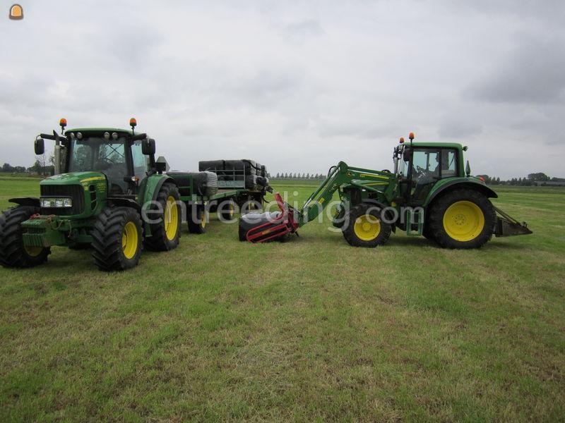 Tractor + plateauwagen Trekker + platte wagen