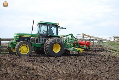 Tractor + rotorkopeg + zaaimachine John Deere + zaaicombi