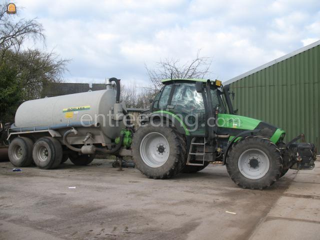 Tractor + waterwagen Trekker met tank
