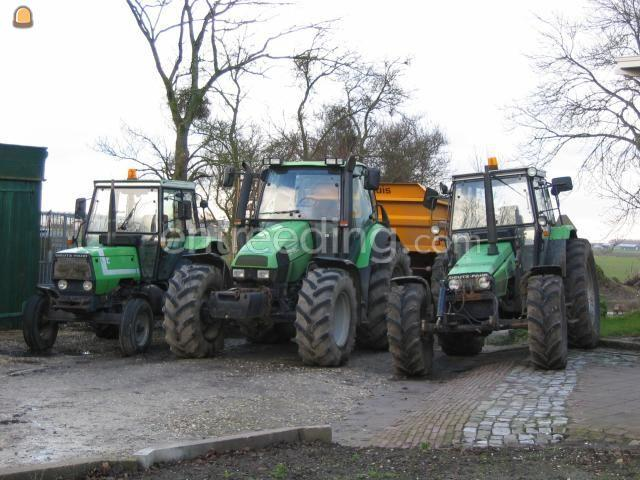 Tractor + kipper Deutz + Veenhuis