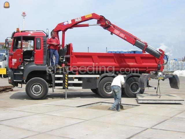 Kippervrachtauto MAN Kraanwagens 6x6