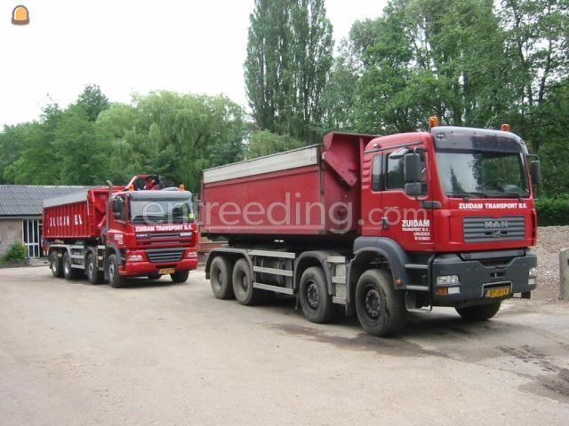 Kippervrachtauto MAN Containerwagens 8x4