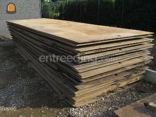 Rijplaten staal rijplaten 1,0x5,0 meter