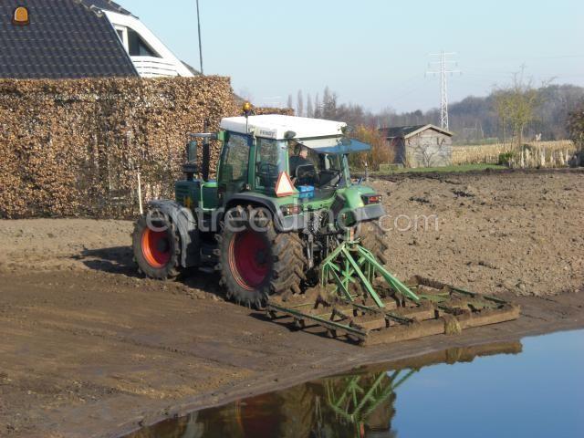 Tractor + egalisatieraam Fendt + egalisatieraam