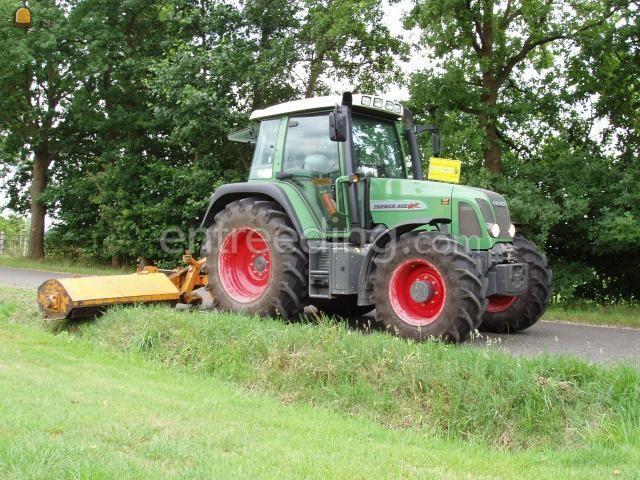 Tractor + klepelmaaier Fendt + Votex