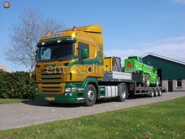 Dieplader / oprijwagen Scania R380 + Broshuis dieplader