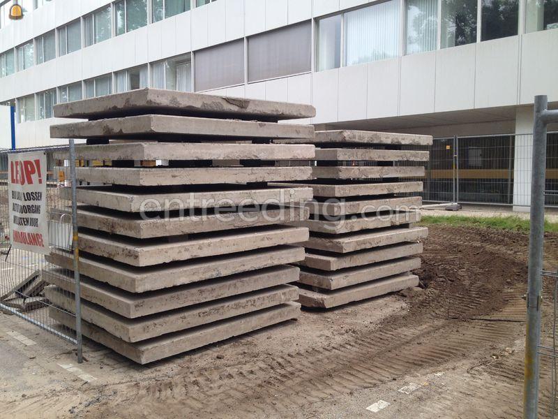 betonplaten zonder stalen rand 2x2 meter